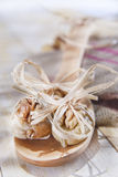 Dried figs and nuts Royalty Free Stock Photography