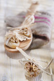 Dried figs and nuts Stock Photo