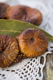 Dried figs pastries. Dried figs with almonds, a traditional pastry from Puglia, south of Italy Royalty Free Stock Photo