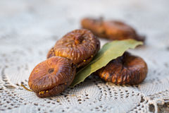 Dried figs pastries. Dried figs with almonds, a traditional pastry from Puglia, south of Italy Stock Image