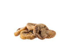 Dried figs in a pile on a white Royalty Free Stock Photo