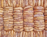 Dried figs rows and columns Stock Photography