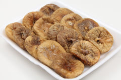 Dried figs on a tray angled Royalty Free Stock Images
