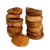 Dried figs on white Stock Photos