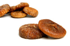 Dried figs. On white background royalty free stock photo