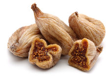 Dried figs. On white background royalty free stock image