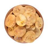 Dried figs in a wooden bowl Stock Image
