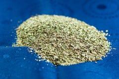 Dried and chopped oregano Stock Photo