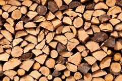 Dried firewood of birch wood Stock Images