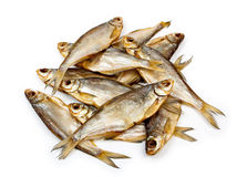 Dried fish. Dry fish put in a heap Stock Photos