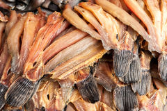 Dried fish at asian food market Royalty Free Stock Images