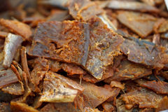 Dried fish close up Royalty Free Stock Images