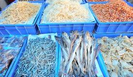 Dried fish market Royalty Free Stock Photos