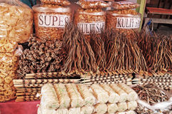 Dried fish on the market Royalty Free Stock Image