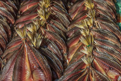Dried fish at the market Stock Photo