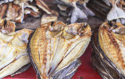 Dried fish Market in Labuan Bajo, Flores Island, Indonesia Stock Image
