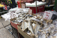 Dried fish market Stock Photography