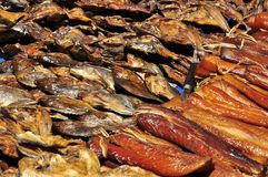 Dried fish in the market Stock Photography