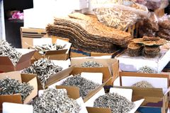 Dried fish market in South Korea Royalty Free Stock Photo