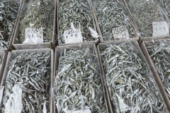 Dried fish market in South Korea Stock Photos