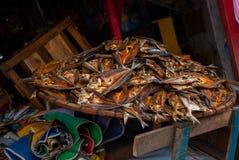 Dried fish. Market on the street. Cebu. Philippines Stock Image