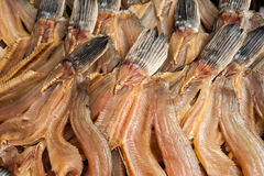Dried fish for sale at asian market Stock Photo