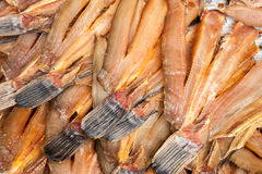 Dried fish for sale at asian market Stock Photos