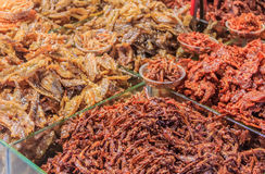 Dried fish for sale Royalty Free Stock Photos