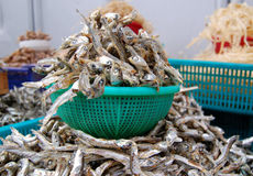 Dried fish for sale in a market Stock Photography