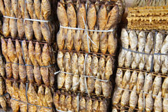 Dried fish for sale Stock Image