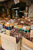 Dried fish, seafood product at market from Thailand. Royalty Free Stock Photography