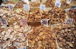 Dried fish store Stock Image