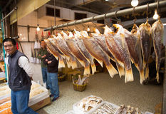 Dried fish store Stock Photography