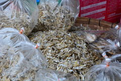 Dried fish. Tha Heua fish market. Vientiane province. Laos. Vientiane province is a province of Laos, located in the northwest of the country Royalty Free Stock Photo