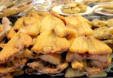 Dried Fish. At Wat Don Wai floating market Royalty Free Stock Image