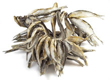Dried fishes Stock Photos