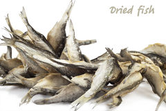 Dried fishes Royalty Free Stock Photo