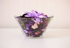Dried flower in bowl Royalty Free Stock Images