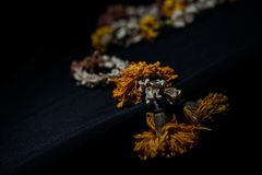 Dried flower garland Royalty Free Stock Image