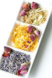 Dried flower potpourri aromatherapy royalty free stock photography