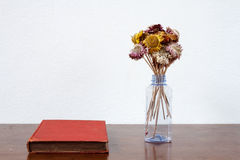 Dried flower in recycle bottle Royalty Free Stock Images