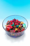Dried flowers. A bowl of dried flowers for the fragrance Royalty Free Stock Photos