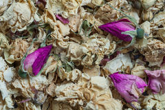 Dried flowers. Background dried flowers roses. Herbarium for decoration stock image