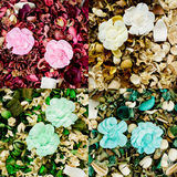 Dried flowers composition Royalty Free Stock Images