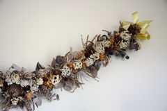 Dried flowers decoration Royalty Free Stock Photo