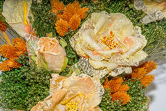 Dried flowers in the foreground, bouquets of dried flowers, flower arrangement Royalty Free Stock Images