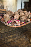 Dried flowers and fruits royalty free stock image
