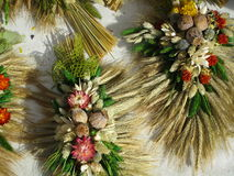 Dried flowers handicrafts on Onion Festival in Weimar Royalty Free Stock Photography