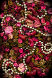Dried flowers Leaves & Pearls Stock Photos