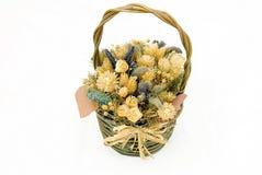 dried flowers wicker Στοκ εικόνα με δικαίωμα ελεύθερης χρήσης